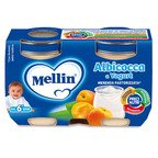 Merende Merenda Albicocca e Yogurt* Confezione da 240 g ℮ (2 vasetti x 120 g) su My Mellin Shop