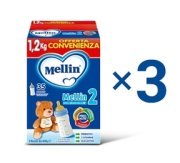 Kit convenienza latte Kit Convenienza Latte Mellin 2 in Polvere  1 Kit = 3 Confezioni da 1,2 kg ℮ su My Mellin Shop