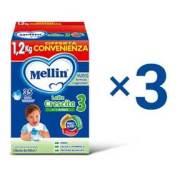 Kit convenienza latte Kit Convenienza Mellin Latte Crescita 3 in Polvere 1 Kit = 3 Confezioni da 1,2 kg ℮ su My Mellin Shop