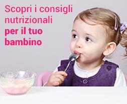 Consigli nutrizionali per il tuo bambino su MyMellinShop.it