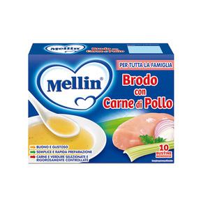 Brodi Brodo con carne di pollo Confezione da 50 g ℮ (10 bustine x 5 g) su My Mellin Shop