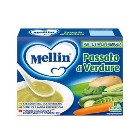 Brodi Passato di verdure Confezione da 104 g ℮ (8 bustine x 13 g) su My Mellin Shop