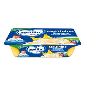 Mellinino Mellinino Banana Confezione da 360 g ℮ (6 vasetti x 60 g) su My Mellin Shop