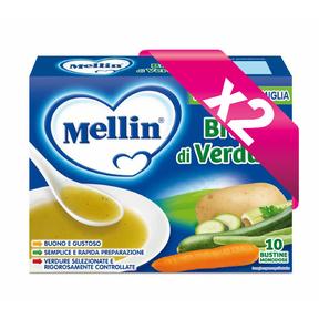 Brodi Kit risparmio 2x Brodo di verdure KIT_2X_Confezione da 80 g ℮ (10 bustine x 8 g) su My Mellin Shop