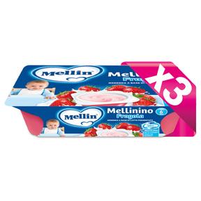 Mellinino Kit risparmio 3x Mellinino Fragola KIT_3X_Confezione da 360 g ℮ (6 vasetti x 60 g) su My Mellin Shop