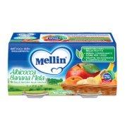 Omogeneizzati Frutta Albicocca Banana Mela Confezione da 200 g ℮ (2 vasetti x 100 g) su My Mellin Shop