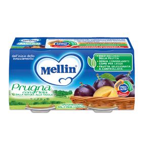 Omogeneizzati Frutta Prugna con Mela Confezione da 200 g ℮ (2 vasetti x 100 g) su My Mellin Shop