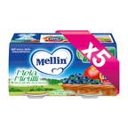 Omogeneizzati Frutta KIT 5x Mela Mirtillo KIT 5x Confezione da 200 g ℮ (2 vasetti x 100 g) su My Mellin Shop