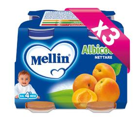 Nettari Kit risparmio 3x Albicocca KIT_3X_Confezione da 500 ml ℮ (4 bottiglie x 125 ml) su My Mellin Shop