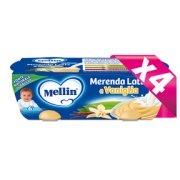 Merende Kit risparmio 4x Merenda Latte Vaniglia KIT_4X_Confezione da 260 g ℮ (2 vasetti x 130 g) su My Mellin Shop