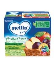 Frutta Pura Fruttapura Prugna Mela Confezione da 400 g ℮ (4 vasetti x 100 g) su My Mellin Shop