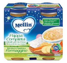 Pappe Complete Pappa Completa Pastina Verdure Formaggino Confezione da 400 g ℮ (2 vasetti x 200g) su My Mellin Shop