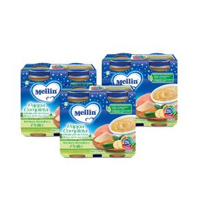 Pappe Complete Kit risparmio 3x Pappa Completa Verdure Semolino Pollo KIT_3X_Confezione da 400 g ℮ (2 vasetti x 200g) su My Mellin Shop