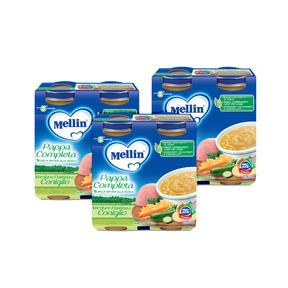 Pappe Complete Kit risparmio 3x Pappa Completa Verdure Pastina Coniglio KIT_3X_Confezione da 500 g ℮ (2 vasetti x 250g) su My Mellin Shop