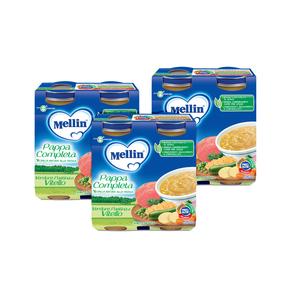Pappe Complete Kit risparmio 3x Pappa Completa Verdure Pastina Vitello KIT_3X_Confezione da 500 g ℮ (2 vasetti x 250g) su My Mellin Shop