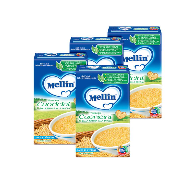 Pastine Kit risparmio 4x Cuoricini KIT_4X_Confezione da 350 g ℮ su My Mellin Shop
