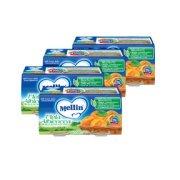 Omogeneizzati Frutta Kit risparmio 4x Mela Albicocca KIT 4x Confezione da 200 g ℮ (2 vasetti x 100 g) su My Mellin Shop