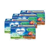 Omogeneizzati Frutta Kit risparmio 4x Mela Mirtillo KIT 4x Confezione da 200 g ℮ (2 vasetti x 100 g) su My Mellin Shop