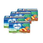 Omogeneizzati Frutta Kit risparmio 4x Pesca con Mela KIT 4x Confezione da 200 g ℮ (2 vasetti x 100 g) su My Mellin Shop