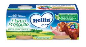 Omogeneizzati Carne Manzo Prosciutto* con Verdure Confezione da 160 g ℮ (2 vasetti x 80 g) su My Mellin Shop