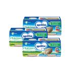 Omogeneizzati di Pesce Kit risparmio 3x Platessa KIT_3X_Confezione da 160 g ℮ (2 vasetti x 80 g) su My Mellin Shop