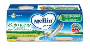 Omogeneizzati di Pesce Salmone Confezione da 160 g ℮ (2 vasetti x 80 g) su My Mellin Shop