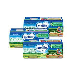 Omogeneizzati Verdure Kit risparmio 3x Zucchine KIT_3X_Confezione da 160 g ℮ (2 vasetti x 80 g) su My Mellin Shop