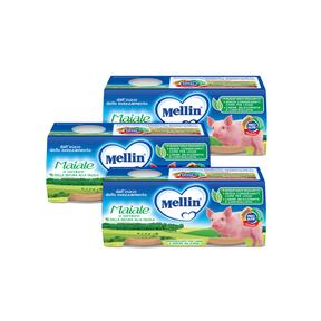 Omogeneizzati Carne Kit risparmio 3x Maiale con Verdure KIT_3X_Confezione da 160 g ℮ (2 vasetti x 80 g) su My Mellin Shop