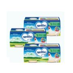 Omogeneizzati Carne Kit risparmio 3x Pollo KIT_3X_Confezione da 160 g ℮ (2 vasetti x 80 g) su My Mellin Shop