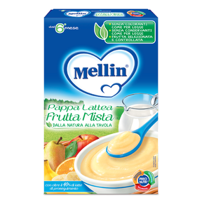Pappe Lattee Pappa lattea frutta mista Confezione da 250 g ℮ su My Mellin Shop