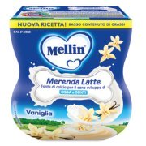 Merende Merenda Latte e Vaniglia Confezione da 200 g ℮ (2 vasetti x 100 g) su My Mellin Shop