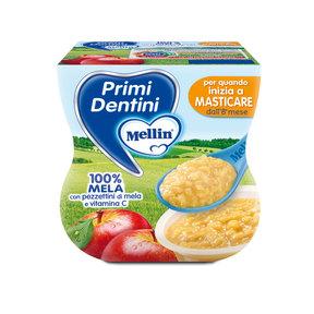 Primi Dentini Frutta Primi Dentini Mela Confezione da 200 g ℮ (2 vasetti x 100 g) su My Mellin Shop