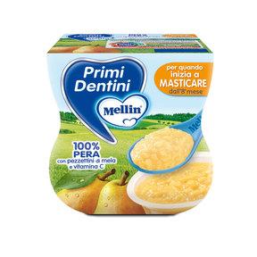 Primi Dentini Frutta Primi Dentini Pera Confezione da 200 g ℮ (2 vasetti x 100 g) su My Mellin Shop