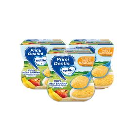 Primi Dentini Frutta Kit risparmio 3x Primi Dentini Mela-Banana Kit 3x Confezione da 200 g ℮ (2 vasetti x 100 g) su My Mellin Shop