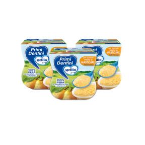 Primi Dentini Frutta Kit risparmio 3x Primi Dentini Pera Kit 3x Confezione da 200 g ℮ (2 vasetti x 100 g) su My Mellin Shop
