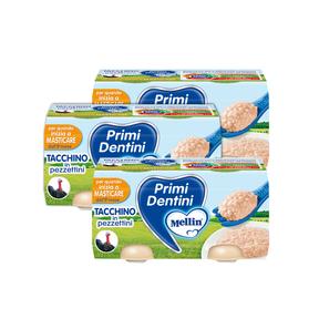 Primi Dentini Carne Kit risparmio 3x Primi Dentini Tacchino Kit 3x Confezione da 160 g ℮ (2 vasetti x 80 g) su My Mellin Shop