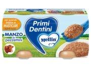 Primi Dentini Carne Primi Dentini manzo in pezzettini Confezione da 160 g ℮ (2 vasetti x 80 g) su My Mellin Shop