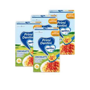 Pasta Junior Kit risparmio 4x Conchigliette KIT_4X_Confezione da 280 g ℮ su My Mellin Shop