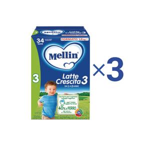 Latte Crescita Kit Convenienza Mellin Latte Crescita 3 in Polvere 1 Kit = 3 Confezioni da 1,2 kg ℮ su My Mellin Shop