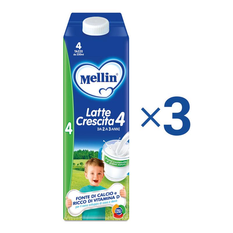 Latte Crescita Kit risparmio 3x Mellin Latte Crescita 4 Liquido 1 l KIT_3X_Bottiglia da 1 l ℮ su My Mellin Shop