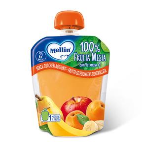 Merende Merenda 100% Frutta mista con Vitamina C Confezione da 90 g su My Mellin Shop
