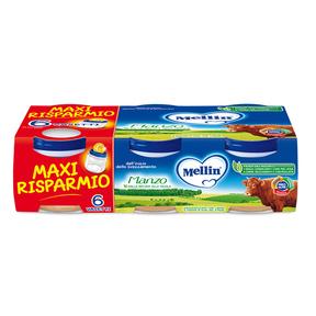 Omogeneizzati Carne Manzo Maxi Risparmio Confezione da 480 g ℮ (6 vasetti x 80 g) su My Mellin Shop