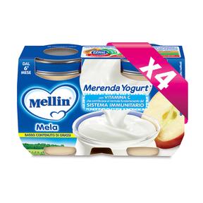 Merende Kit risparmio 4x Merenda Mela e Yogurt* KIT_4X_Confezione da 240 g ℮ (2 vasetti x 120 g) su My Mellin Shop