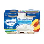 Merende Merenda Pesca e Yogurt* Confezione da 240 g ℮ (2 vasetti x 120 g) su My Mellin Shop