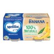 Omogeneizzati Frutta Banana Confezione da 200 g ℮ (2 vasetti x 100 g) su My Mellin Shop