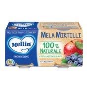 Omogeneizzati Frutta Mela Mirtillo Confezione da 200 g ℮ (2 vasetti x 100 g) su My Mellin Shop